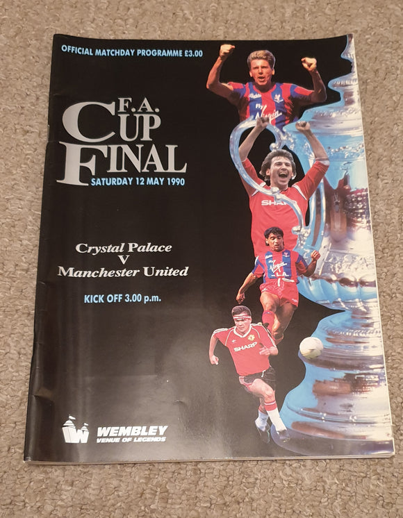 Match Programme Crystal Palace v Manchester United 1990 FA Cup Final