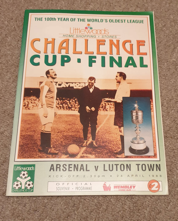 Arsenal v Luton Town 1988 League Cup Final