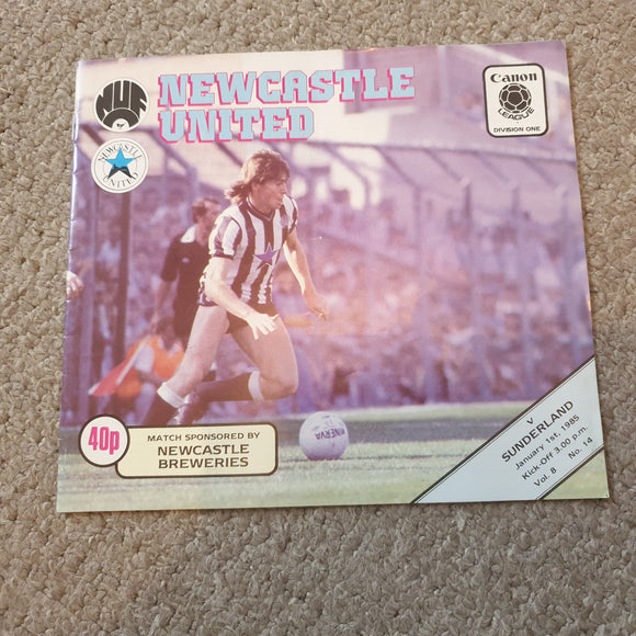 Newcastle United v Sunderland 1984/85
