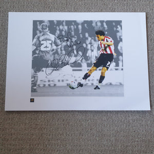 "Carlos Edwards Sunderland ""That Goal"" 16x12 inch Limited Edition Signed Print"