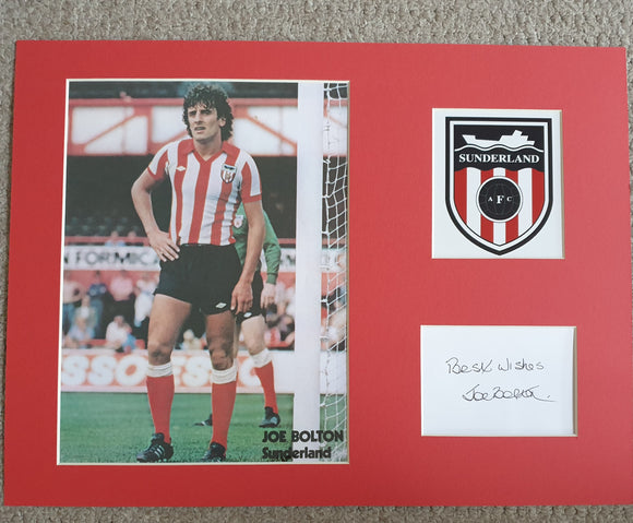 Sunderland Joe Bolton Signed Display 16x12