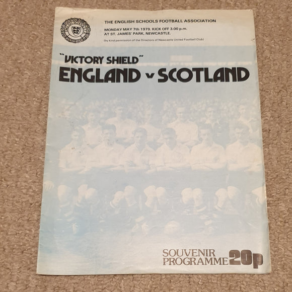 England v Scotland 1979 Schoolboy International @Newcastle