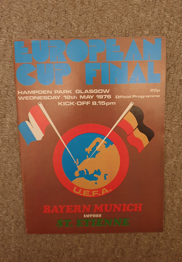 1976 European Cup Final Bayern Munich v St Etienne