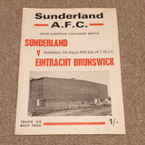 Sunderland v Eintracht Brunswick 1970/1 Friendly