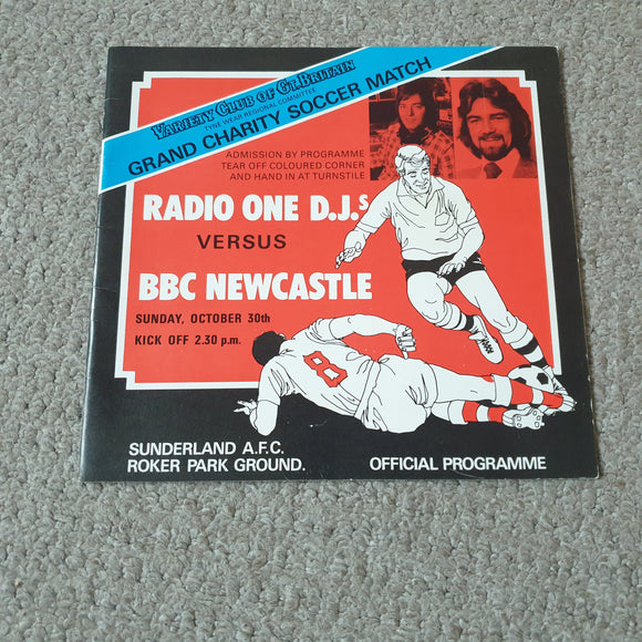 Radio 1 DJ's v BBC Newcastle at Sunderland 1977