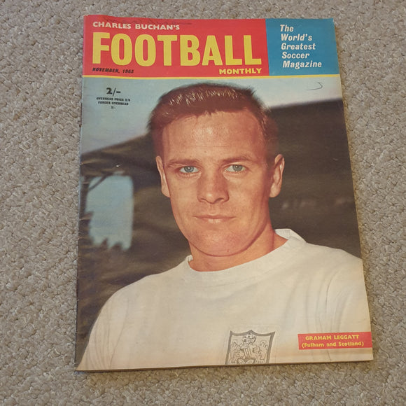 Charles Buchan's Football Monthly November 1963