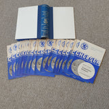 Chelsea Home Programmes 1973/4 Complete with official club programme binder