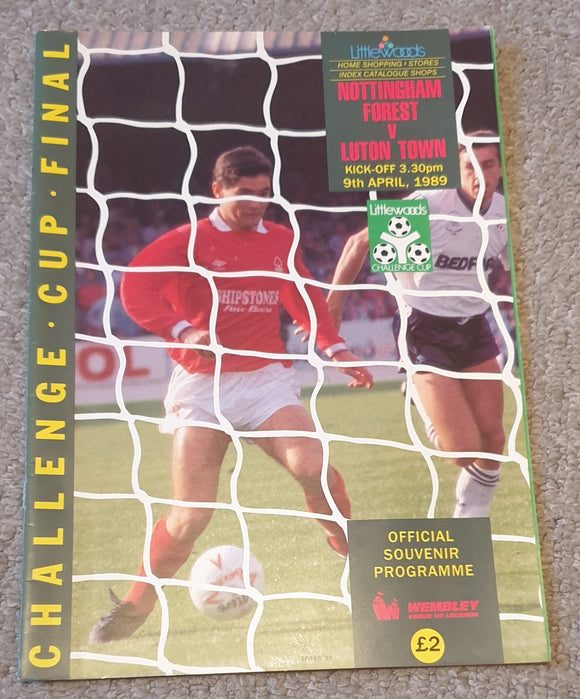 1989 League Cup Final Nottingham Forest v Luton Town