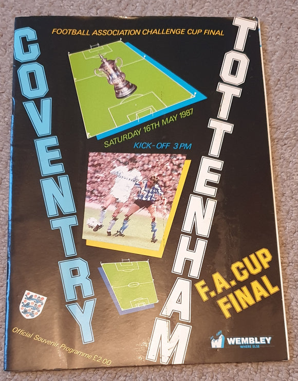1987 FA Cup Final Coventry v Tottenham Hotspur
