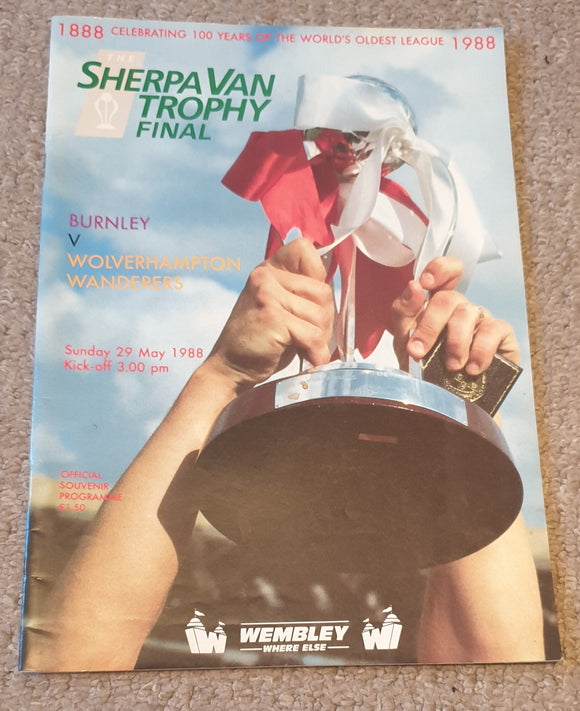 1988 Sherpa Van Trophy Final Burnley v Wolves