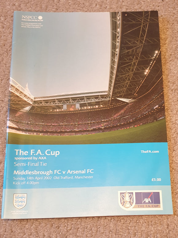 2002 FA Cup Semi Final Arsenal v Middlesbrough