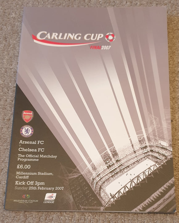 2007 Carling Cup Final Arsenal v Chelsea