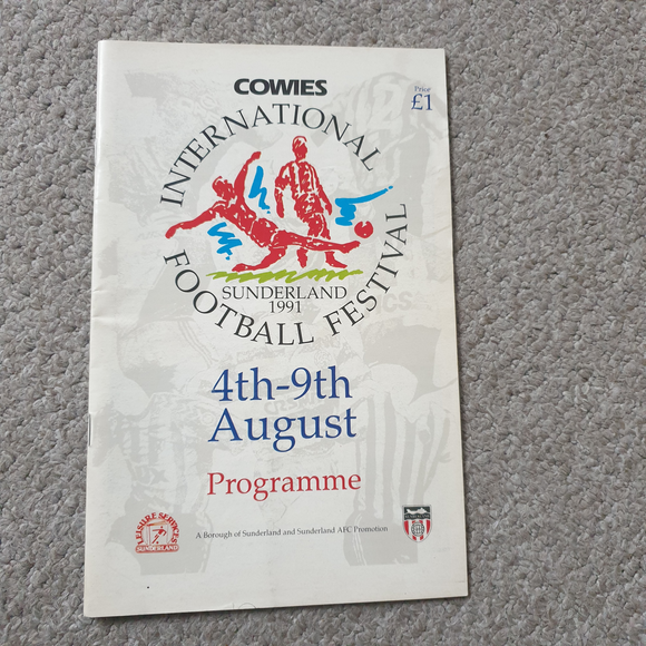 Festival of Football Sunderland 1992 Manchester United Celtic & Real Madrid