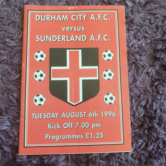Durham City v Sunderland 1996/7 Pre Season Friendly
