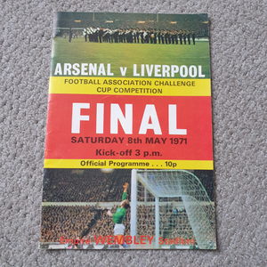 Arsenal v Liverpool 1971 FA Cup Final programme