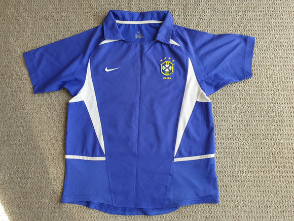 Brazil Away Shirt 2002/04- Blue