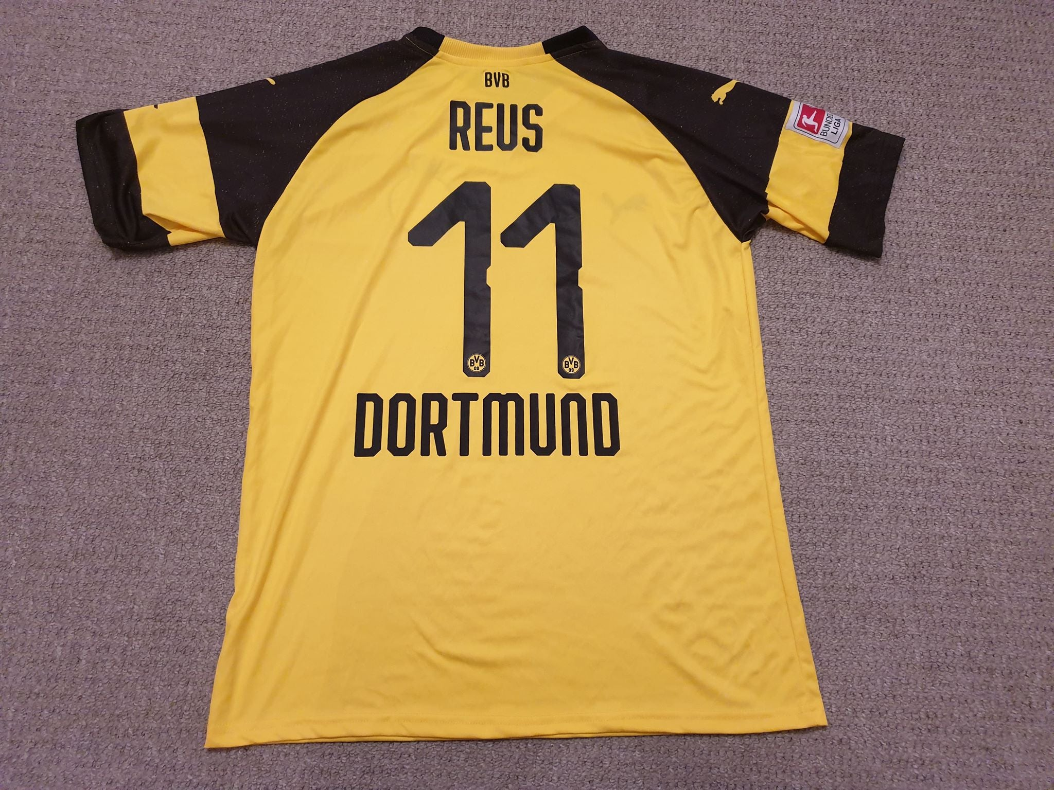 Borussia Dortmund Home Shirt 2018 19 11 Reus Football Mad Memorabilia