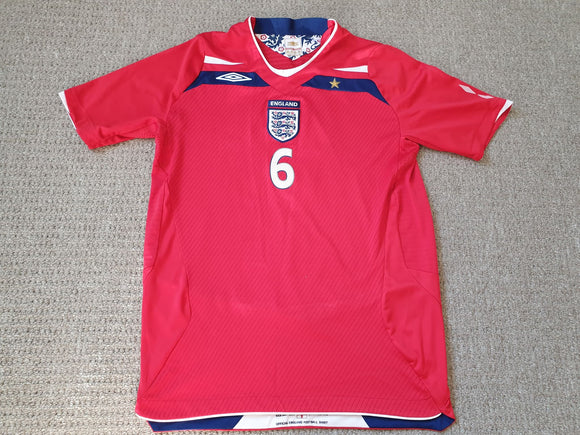 England Away Shirt 2008/10 SIGNED John Terry #6 XLB