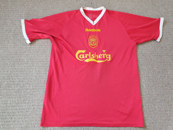 Liverpool Home Shirt 2001/03 Cup Edition MED