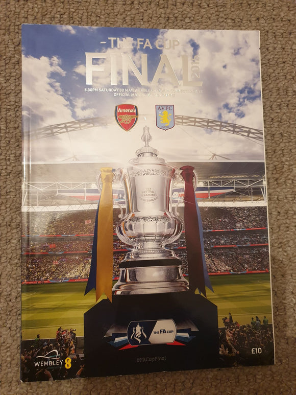 Match Programme - Arsenal vs Villa FA Cup Final 2015