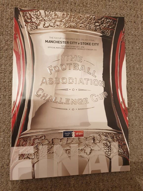 Match Programme - Man City vs Stoke City FA Cup Final 2011