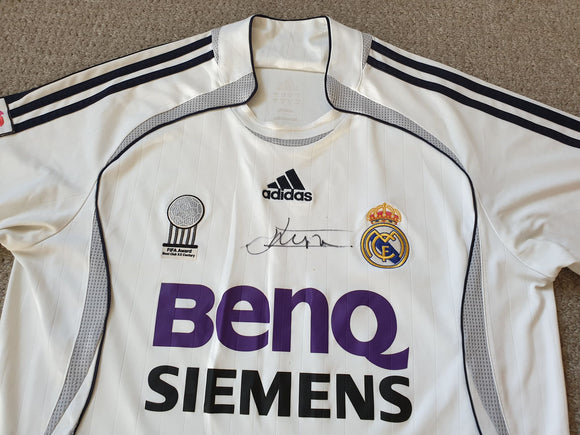 Real Madrid Home Shirt Signed 2006/07 Jonathan Woodgate L