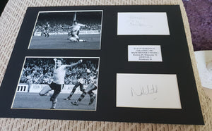 Signed Mounted Display Manchester United Robson & Whiteside 1983 FA Cup Semi Final
