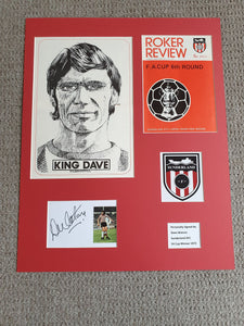 Signed Mounted Display - Dave Watson (Sunderland AFC 1973)