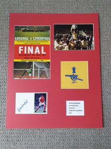 Signed Mounted Display - Frank McLintock (Arsenal FA Cup 1971)