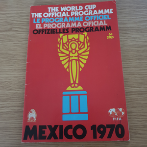 1970 World Cup Tournament Programme UK Edition