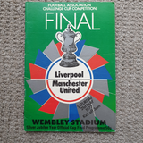 Match Programme Liverpool v Man Utd 1977 FA Cup Final
