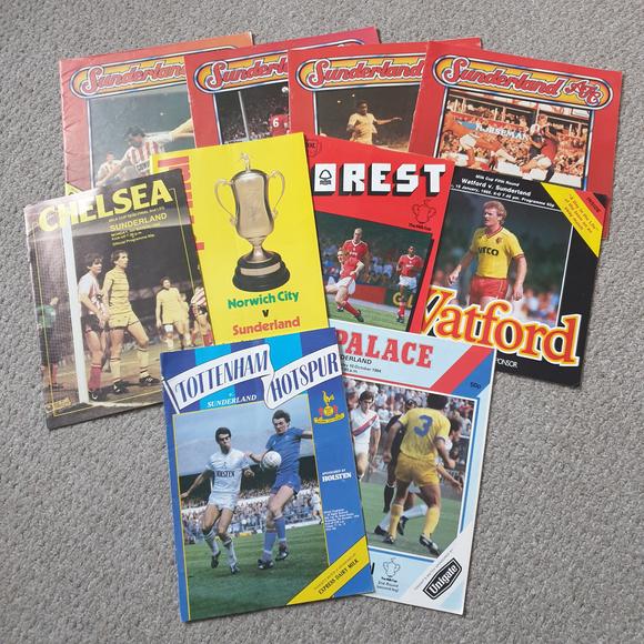 Sunderland Programmes Complete 1985 League Cup Run
