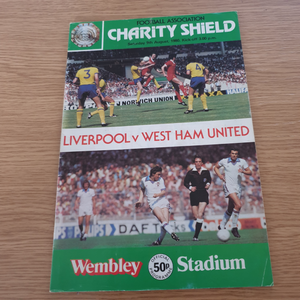 Liverpool v West Ham Utd 1980 FA Charity Shield