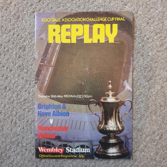 Manchester United v Brighton & HA 1983 FA Cup Final Replay