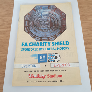 1984 Charity Shield Liverpool v Everton