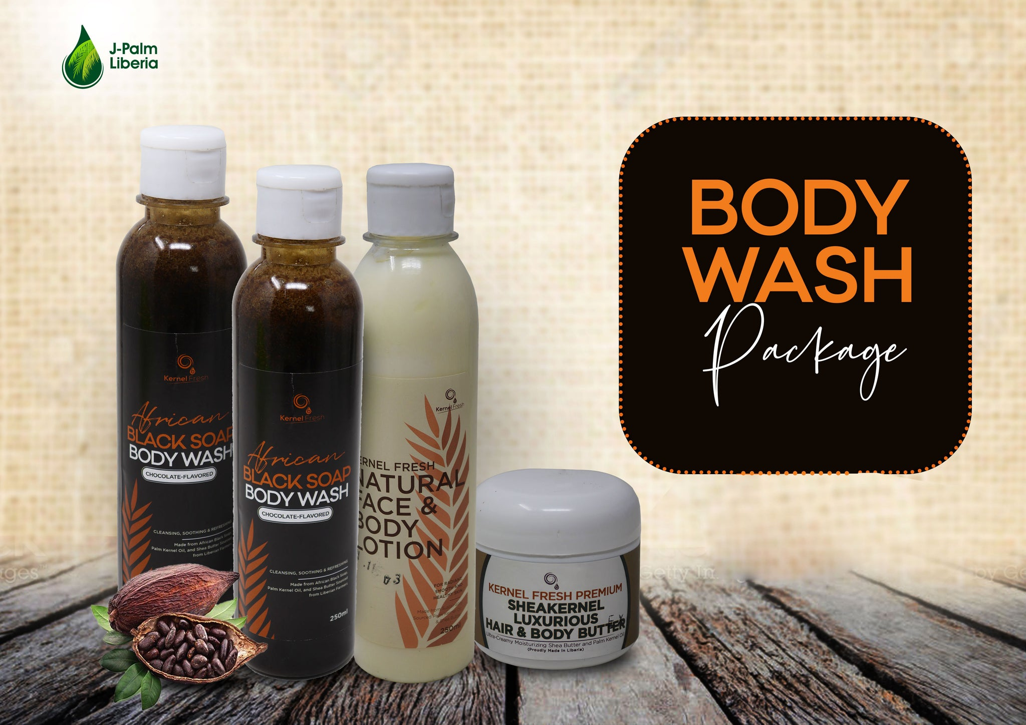 Black Soap Body Wash Set