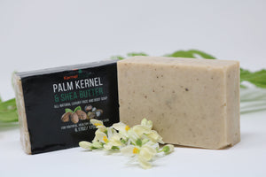 Palm Kernel Oil, Shea Butter and African Black Soap Bar (110g)