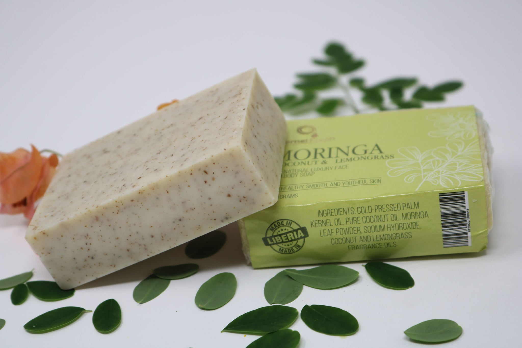Moringa Coconut Lemongrass Soap Bar (110g)