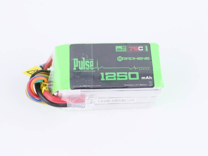 PULSE 1250mAh 75C Graphene 22.2V 6S Lipo Battery - No Connector