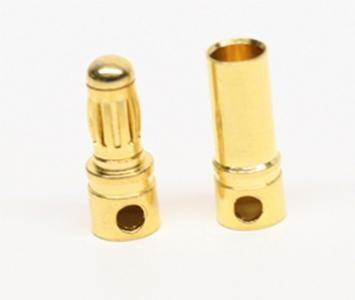 Male And Female 3.5mm Gold Plated Banana (bullet) Connector