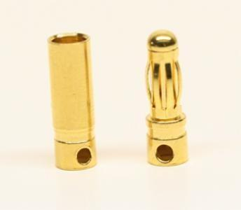 Male And Female 4.0mm Gold Plated Banana (bullet) Connector