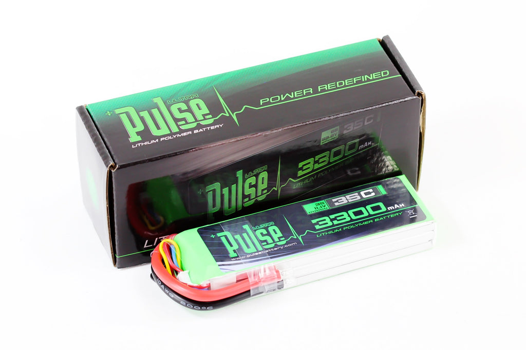 PULSE 3300mah 35C 11.1V 3S LiPo Battery - No Connector