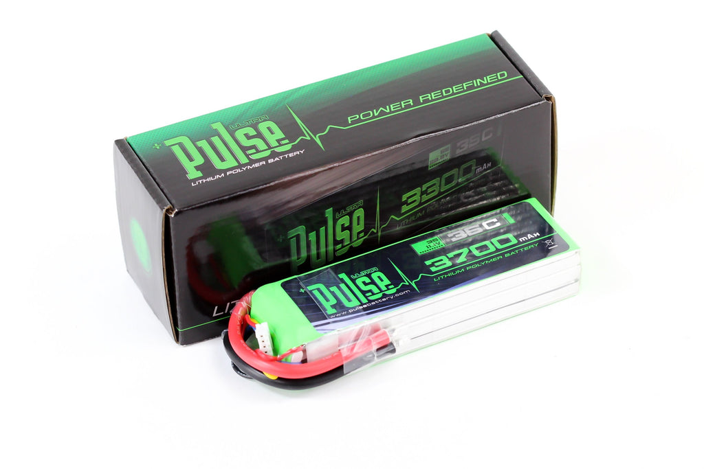 PULSE 3700mAh 35C 11.1V 3S LiPo Battery - No Connector