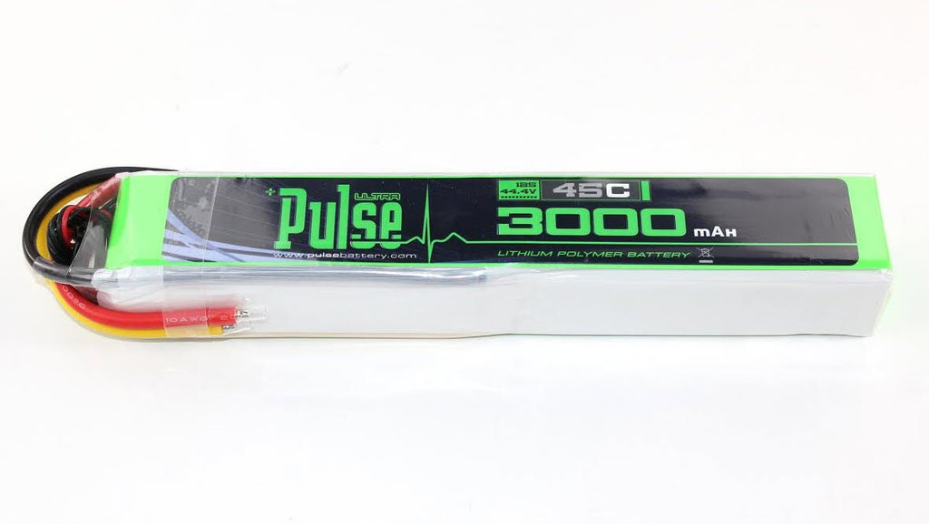 PULSE 3000mAh 12S 44.4V 45C Stick Pack LiPo Battery - No Plug