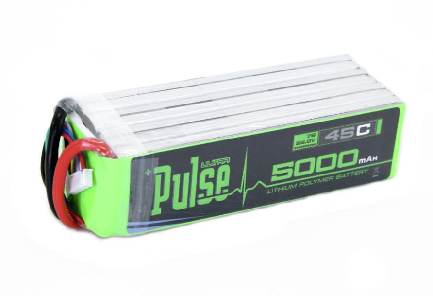 PULSE 5000mah 45C 25.9V 7S LiPo Battery - No Connector