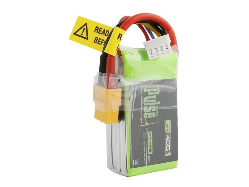 PULSE 860mah 3S 11.1V 45C LiPo Battery - XT60 Plug