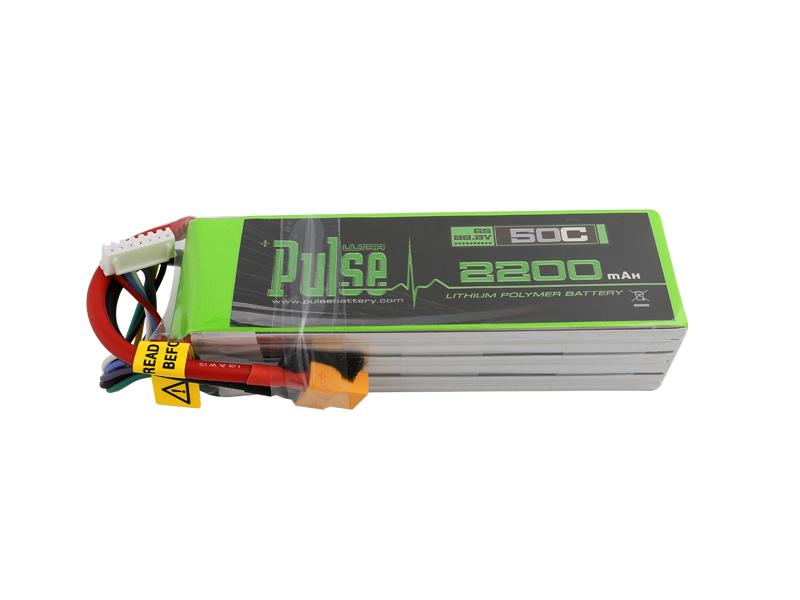 PULSE 2200mah 50C 22.2V 6S LiPo Battery - XT60 Connector