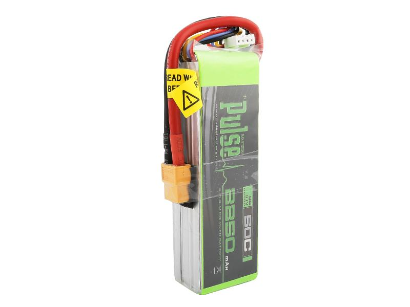 PULSE 2250mAh 50C 11.1V 3S LiPo Battery - XT60 Connector