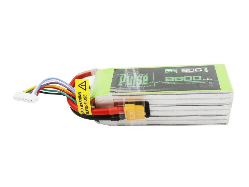 Pulse 2600mAh 6S 22.2V 50C Lipo Battery - XT60 Plug