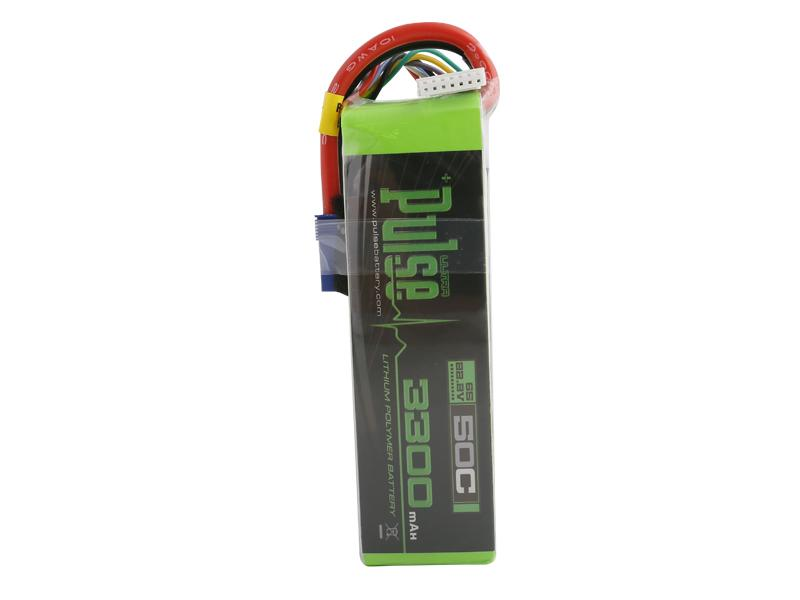 PULSE 3300mAh 50C 22.2V 6S LiPo Battery - EC5 Connector